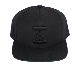 We Are One Star Snapback (Blacked Out)