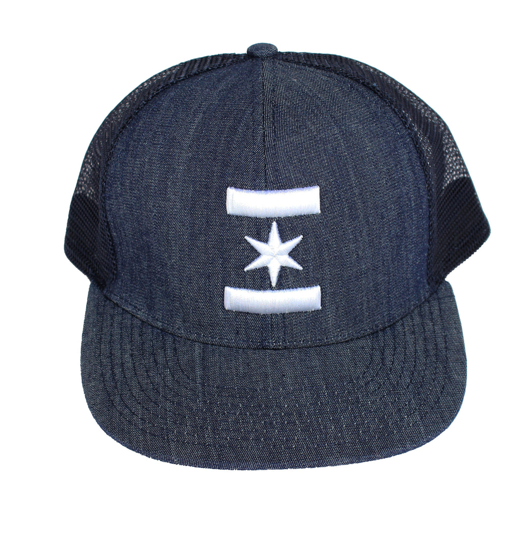 We Are One Star Trucker Snapback (Denim)