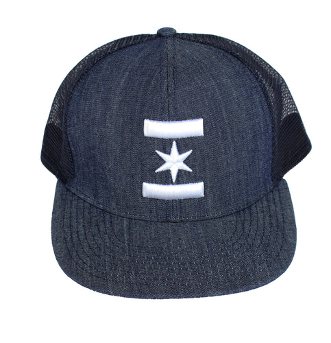 We Are One Star Snapback (Denim)