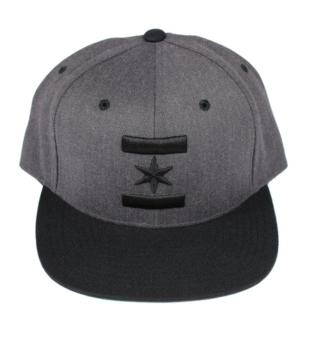 We Are One Star Snapback (Tuxedo Grey & Black)