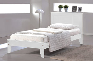Twin White Bed Frame