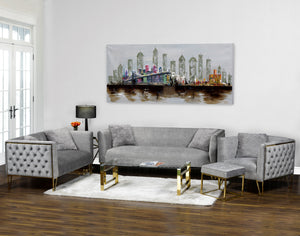 3pc Grey Sofa Set