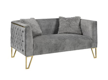 Load image into Gallery viewer, Grey Loveseat