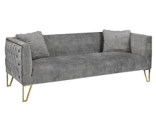 Load image into Gallery viewer, Grey Suede Sofa