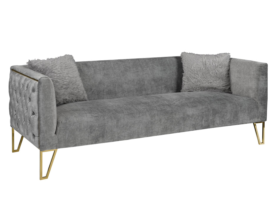 Grey Suede Sofa