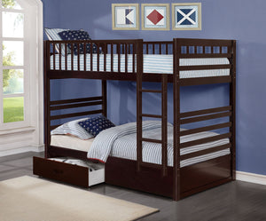 Lucie Twin/Twin Bunk Bed (Colour Options)