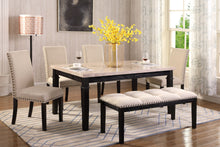 Load image into Gallery viewer, Nancy 6Pc Dinette Set (Real Marble)