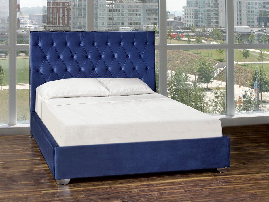 Blue Fabric Bed Frame