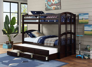 Brown Bunk Bed