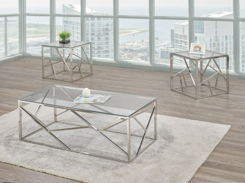 Tempered Glass Coffee Table Set