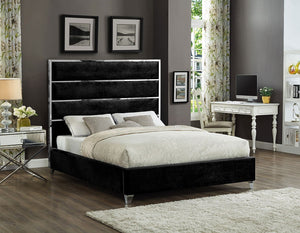 Black Fabric Bed Frame