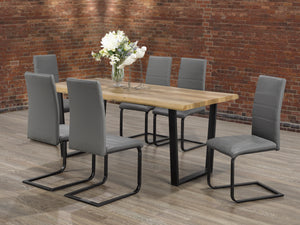 Vidal 7Pc Dinette Set (Chair Colour Options)