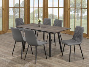 Attilio 7Pc Dinette Set (Chair Colour Options)