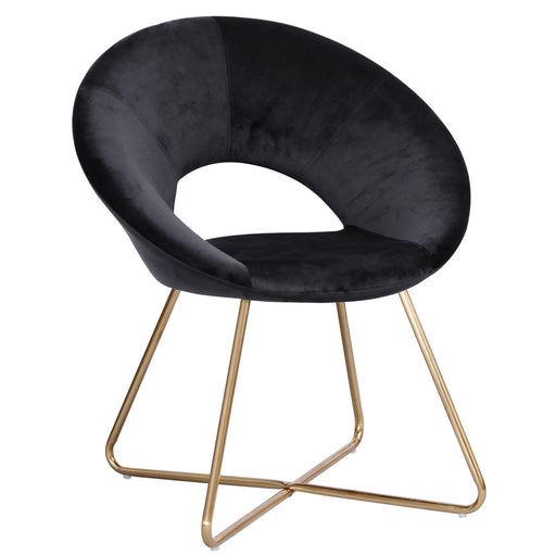 Black and gold accent chair