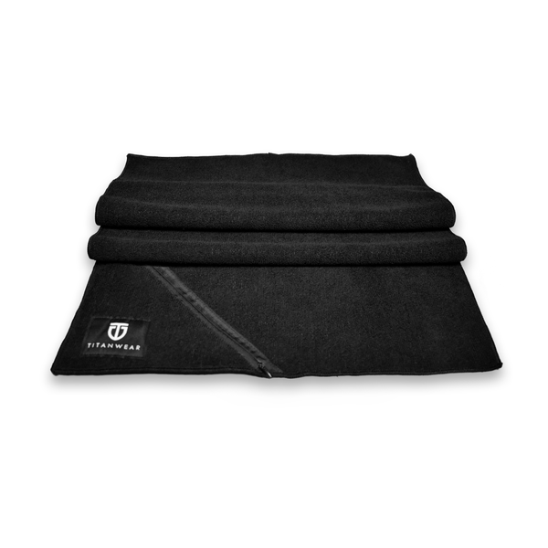 gym towel microfiber black