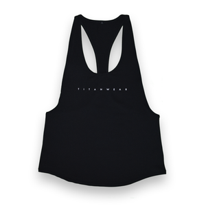 Women's Open-Back Poly Stringer - Black