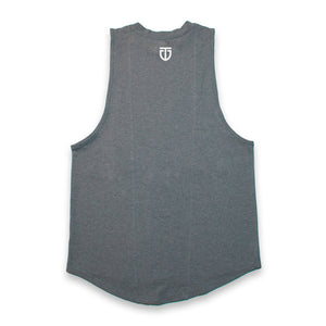 Titanwear cut-off tshirt, grey, back.