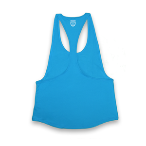 Womens stringer tank top blue back
