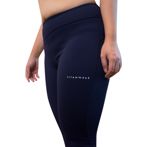 navy blue leggings side