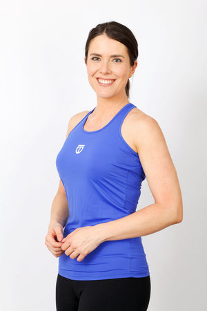 Women's Nylon Tear Drop Singlet - Azure Blue
