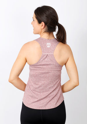 Women's Regular Fit Poly Racerback - Chalk Red