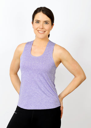 Women's Regular Fit Poly Racerback - Chalk Lavender