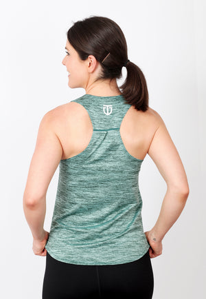 Women's Regular Fit Poly Racerback - Chalk Emerald Green