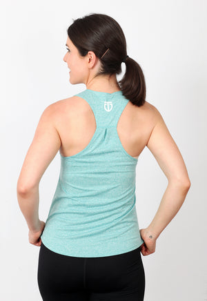 Women's Regular Fit Poly Racerback - Chalk Aqua