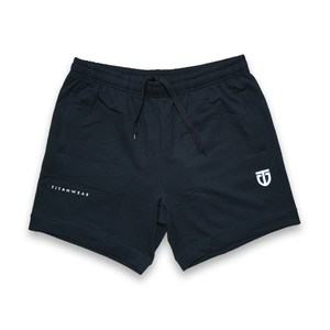 poly cotton training shorts front