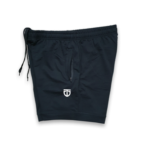 poly cotton training shorts side