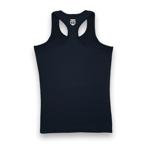 Womens racerback tank top black back