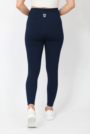 Women's Ultra High Waisted Ankle Leggings - Navy Blue