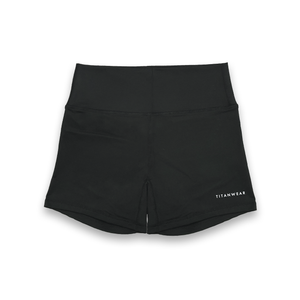 Women's High Waisted Booty Shorts - Black