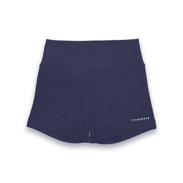 Women's High Waisted Booty Shorts - Navy