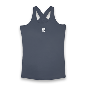 tear drop singlet grey back
