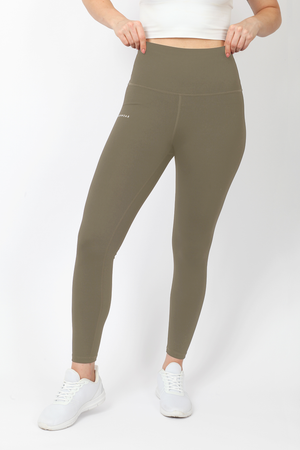 Women's Ultra High Waisted Ankle Leggings - Khaki