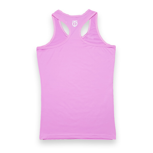 Womens racerback tank top pink back