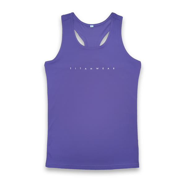 royal purple racerback singlet front
