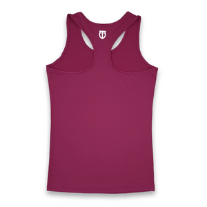 wine red racerback singlet back