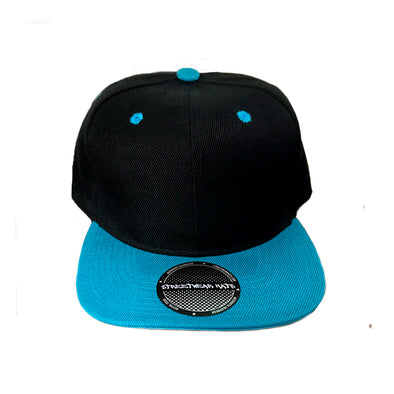 Flat Bill Snapback Structured Cap