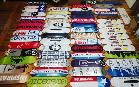 Custom Inspiration Skateboards Skate Deck + Hat