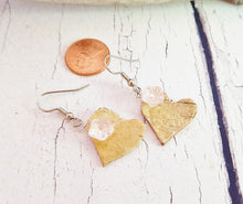 Handmade Birch Bark Dangle Earrings ~ Natural Rustic Boho Earrings