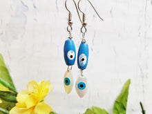 Evil Eye Earrings ~ Mediterranean Style Evil Eye Protection Earrings