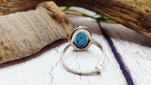 Turquoise Ring, Handmade Birthstone Promise Ring, Real Turquoise, Adjustable