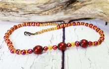 Rich Burgundy Pearl Choker Necklace ~ Autumn Bridal Jewelry ~ Fall Wedding Jewelry