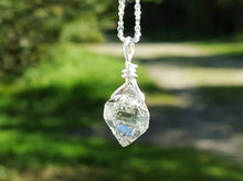 "Herkimer Diamond Personalized Crystal Necklace ~ Sterling Silver 24"" Long"