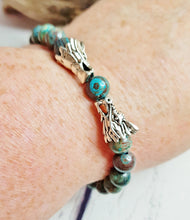 Blue Sky Jasper Mens Meditation Bracelet ~ Dragon Age Viking Bracelet