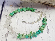 Raw Turquoise Anklets for Women, Ankle Bracelet, Bohemian Beach Jewelry