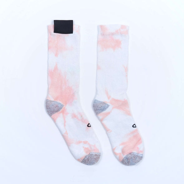 Cogs Shop | The First Summer | Tie Dye Crew Socks Peach 1