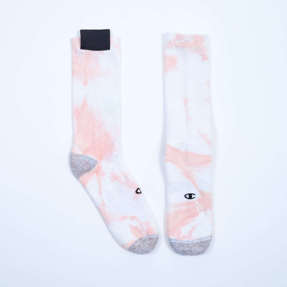 Cogs Shop | The First Summer | Tie Dye Crew Socks Peach 2